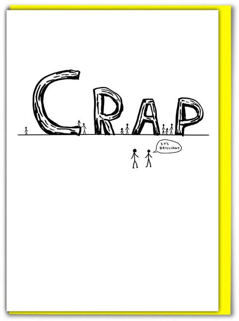 David Shrigley Crap Greetings Card