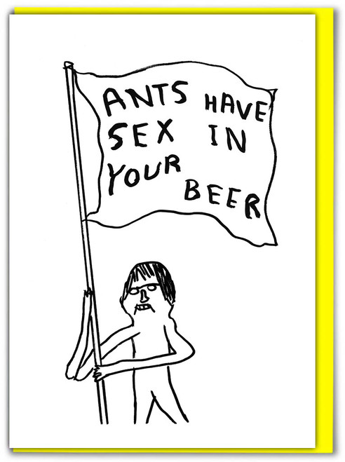 David Shrigley Ants Have Sex Greetings Card
