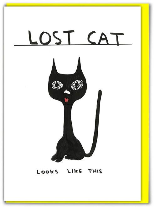 David Shrigley Lost Cat Greetings Card