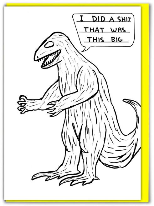David Shrigley Dinosaur Shit Greetings Card