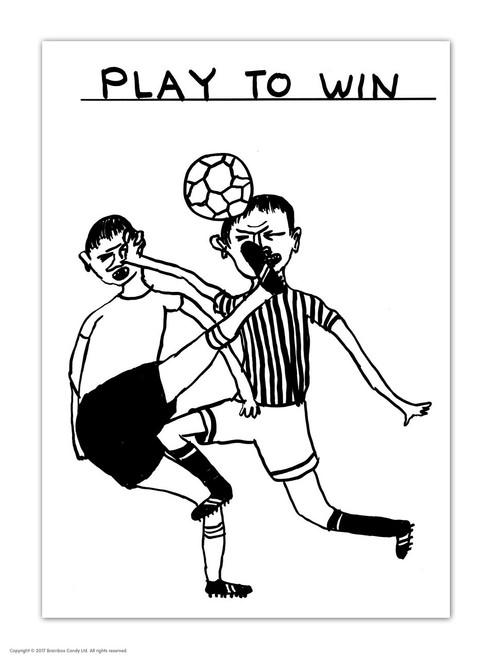 David Shrigley Play To Win Postcard
