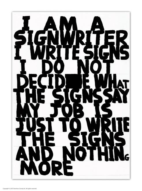 David Shrigley Signwriter Postcard