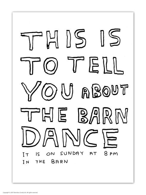 David Shrigley Barn Dance Postcard