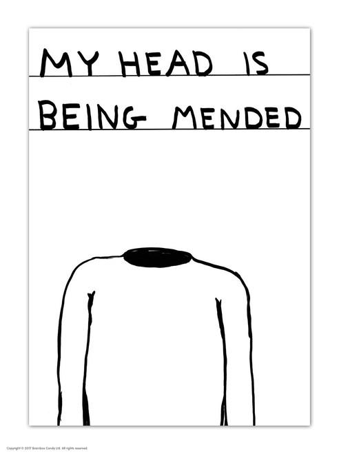 David Shrigley Head Being Mended Postcard