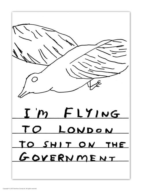 David Shrigley Shit On Government Postcard