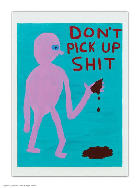 David Shrigley Don't Pick Up Shit Postcard
