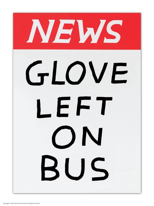 David Shrigley Glove Left On Bus Postcard