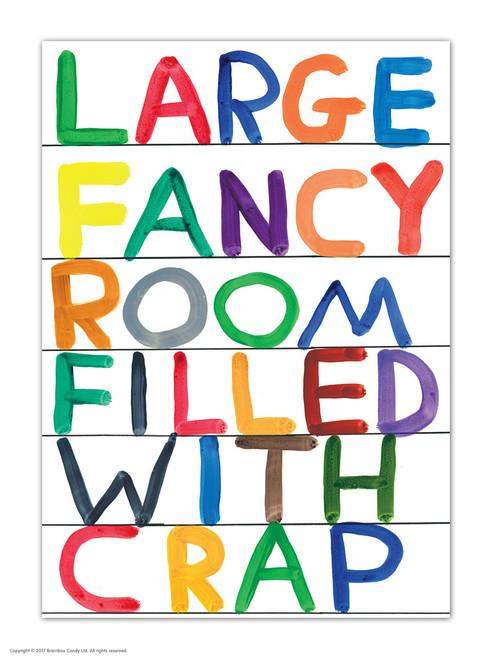 David Shrigley Large Fancy Room Postcard