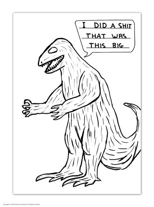 David Shrigley Dinosaur Shit Postcard