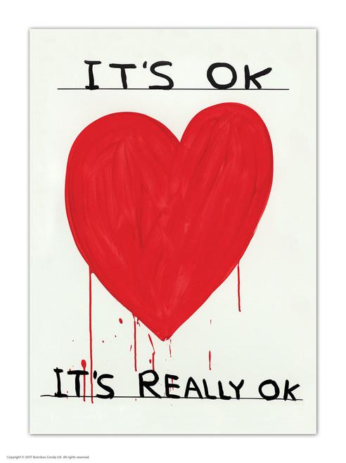 David Shrigley It's OK Postcard