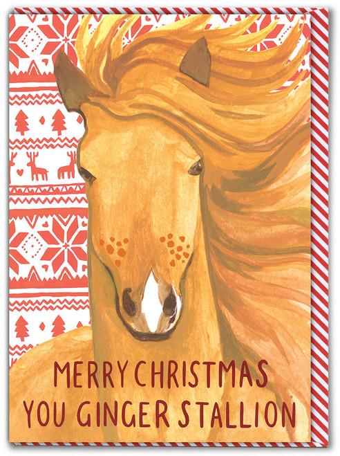 Ginger Stallion Christmas Card