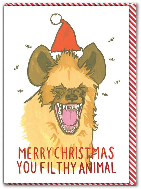 Filthy Animal Christmas Card