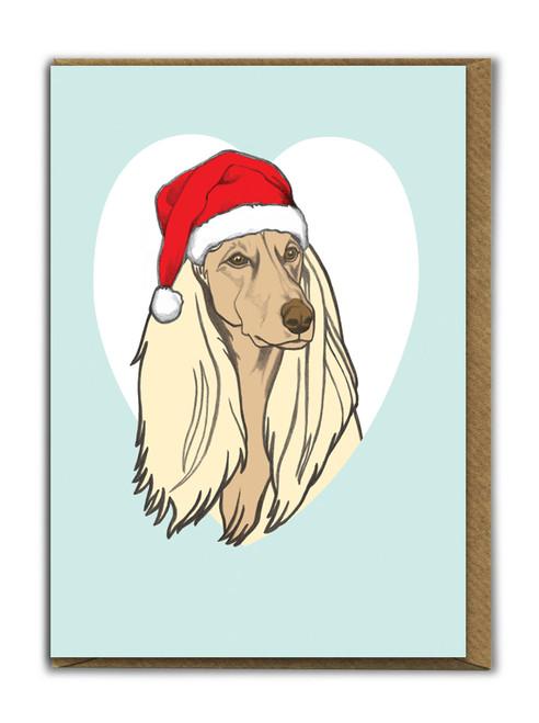 Cute A6 Afghan Christmas Card
