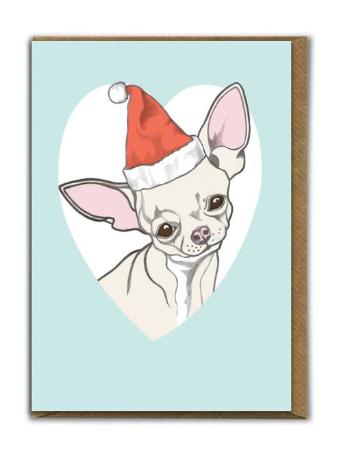 Cute A6 Chihuahua Christmas Card