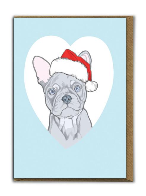Cute A6 French Bulldog Christmas Card