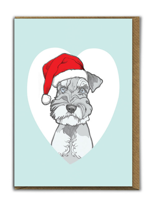 Cute A6 Schnauzer Christmas Card