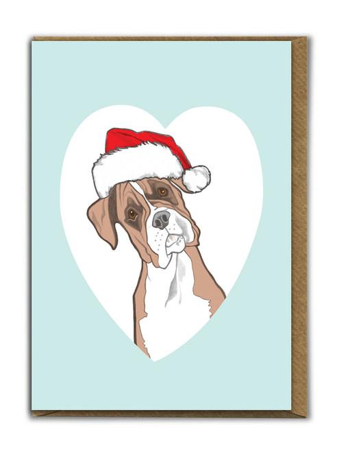Cute A6 Boxer Christmas Card