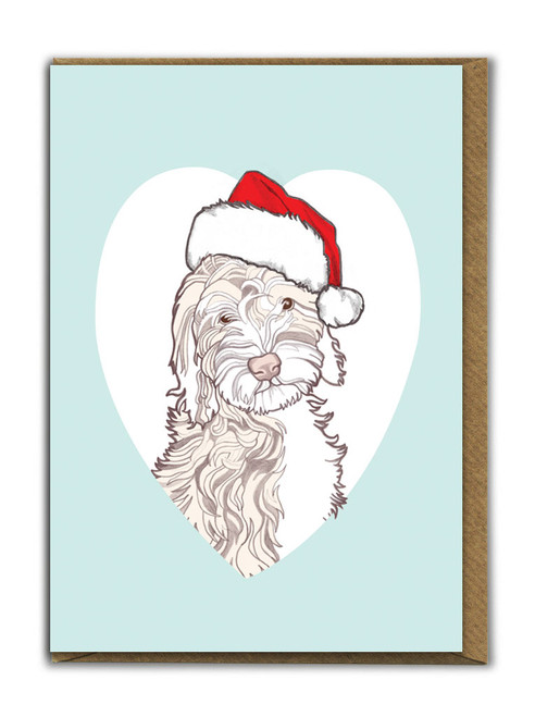 Cute A6 Cockapoo Christmas Card