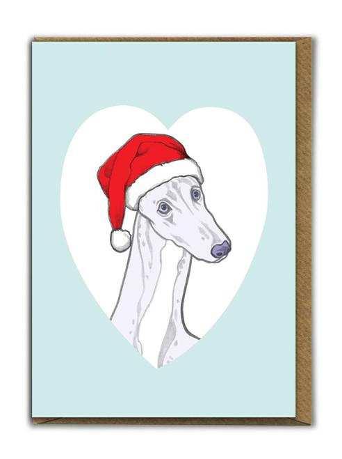 Cute A6 Greyhound Christmas Card