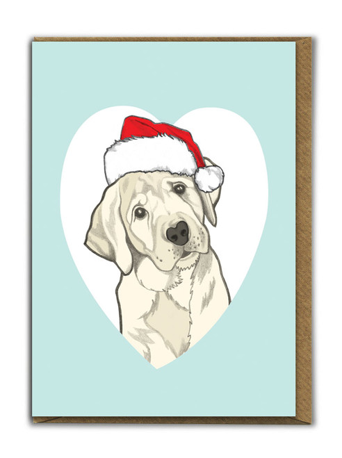 Cute A6 Labrador Christmas Card