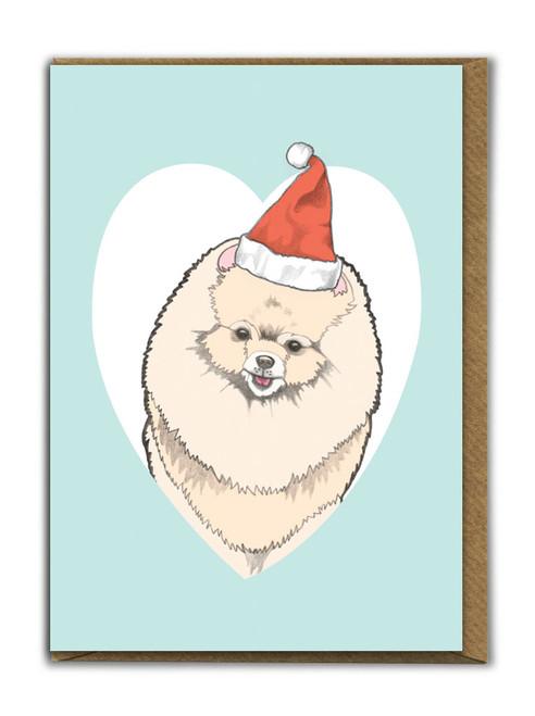 Cute A6 Pomeranian Christmas Card