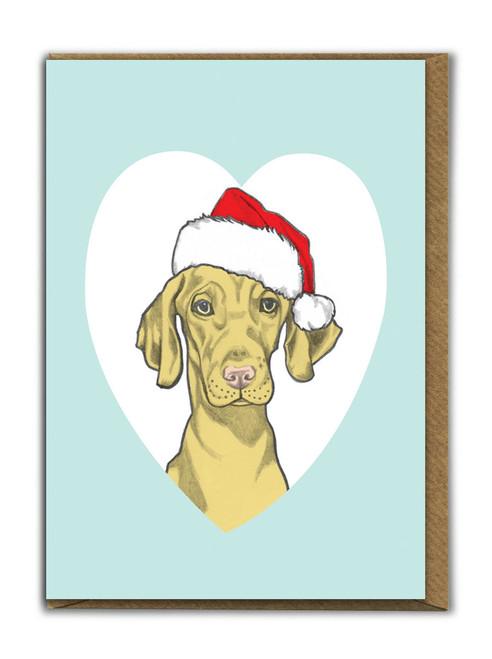 Cute A6 Vizsla Christmas Card