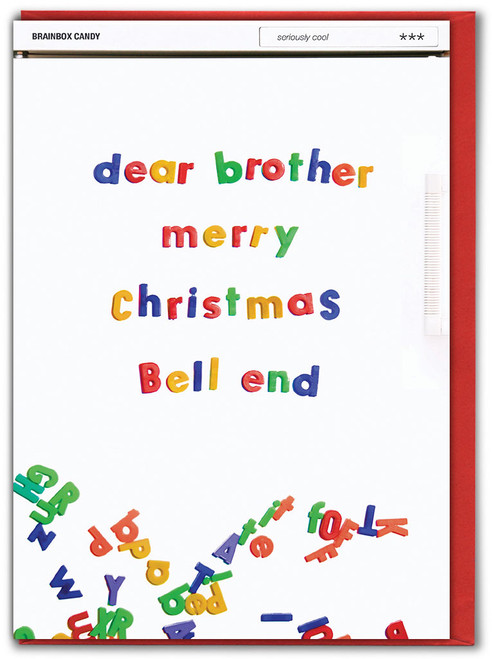 Brother Merry Xmas Bell End Christmas Card
