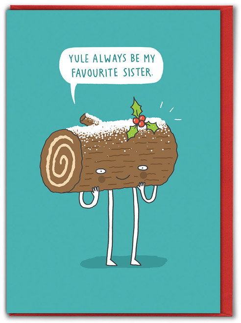 Yule Favourite Sister Christmas Card
