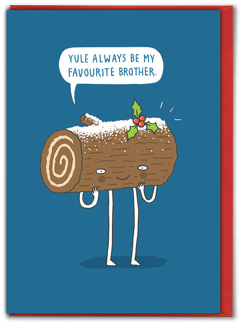 Yule Favourite Brother Christmas Card