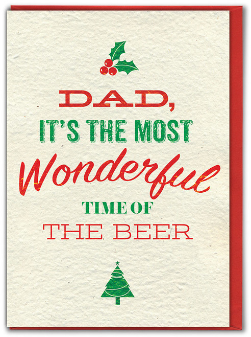 Dad Time Of The Beer Christmas Card