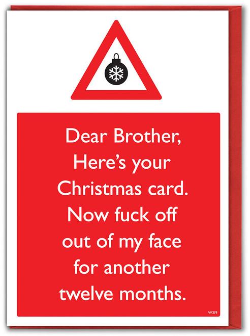 Bro Fuck Off 12 Months Christmas Card