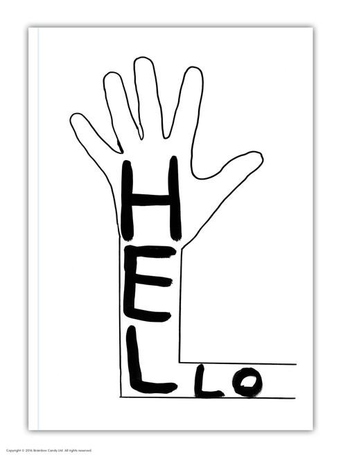 David Shrigley Hello A6 Notebook / Notepad