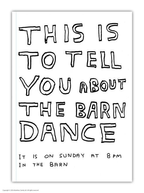 David Shrigley Barn Dance A6 Notebook / Notepad