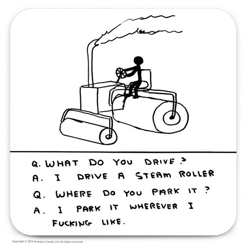 David Shrigley Steam Roller Coaster