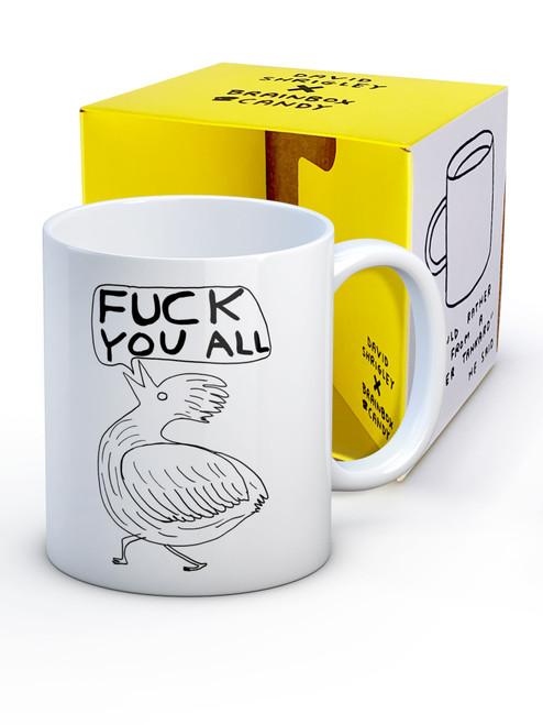 David Shrigley Fuck You All Boxed Mug