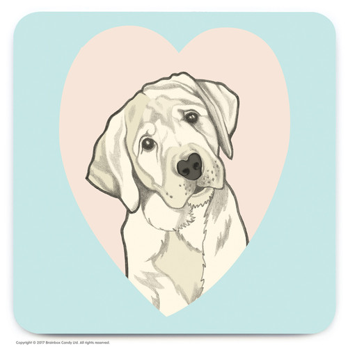 Cute Labrador Heart Coaster