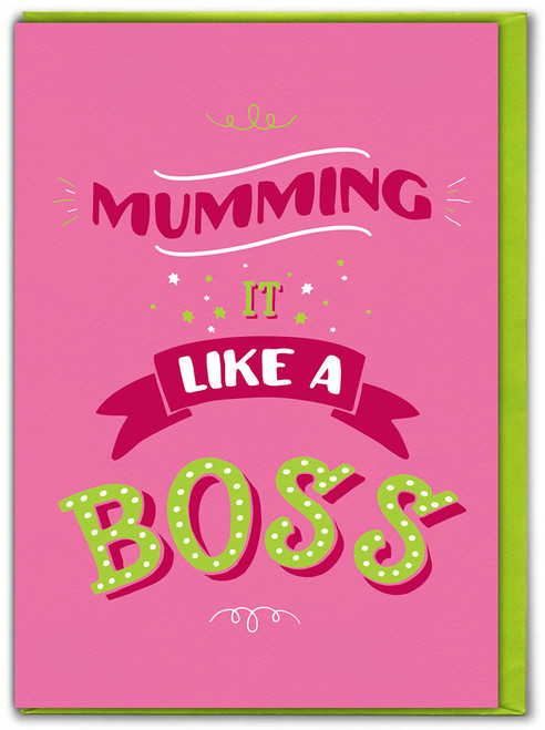Like A Boss Mother's Day Greetings Card