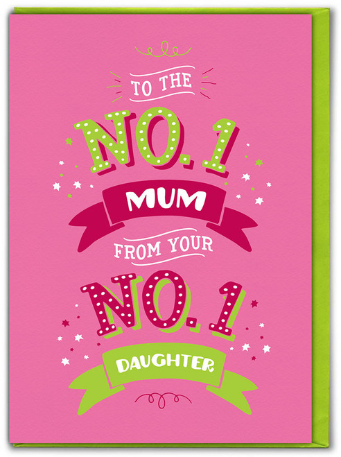 From No. 1 Daughter Mother's Day Greetings Card
