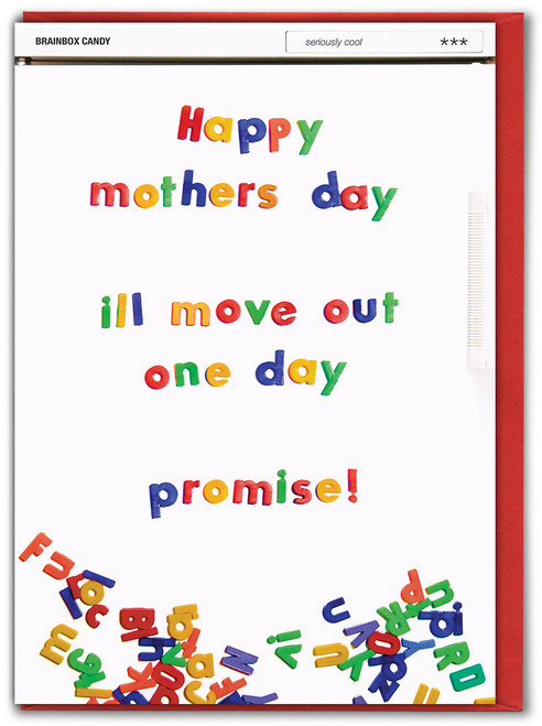 Move Out One Day Mother's Day Greetings Card