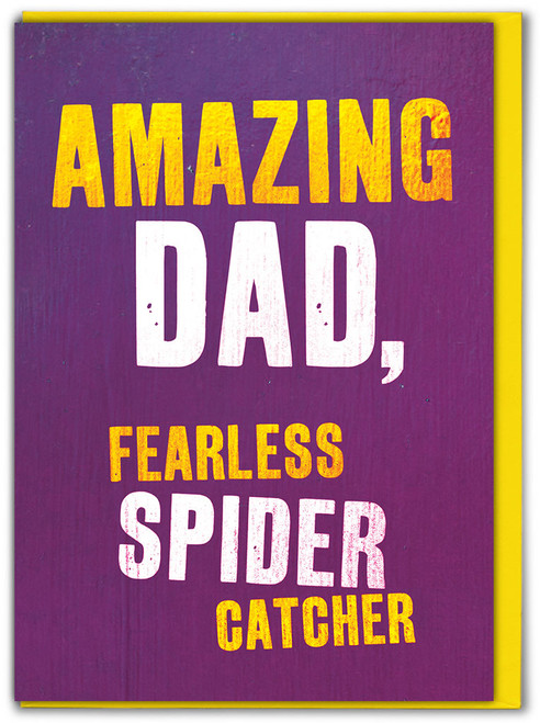 Fearless Spider Catcher Father's Day Greetings Card
