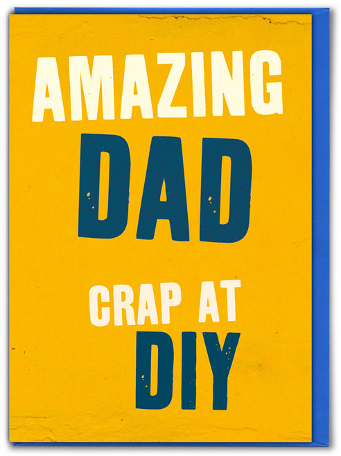 Crap At DIY Father's Day Greetings Card