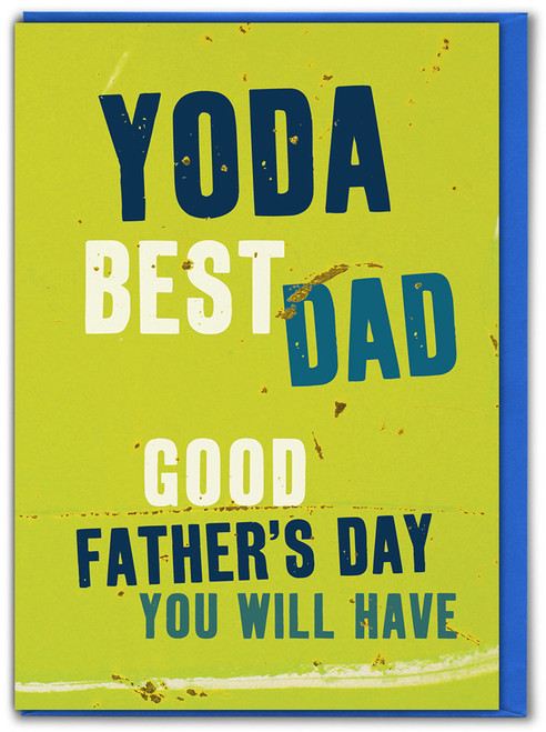 Yoda Best Dad Father's Day Greetings Card