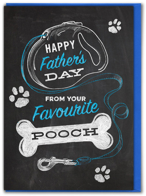 Favourite Pooch Father's Day Greetings Card