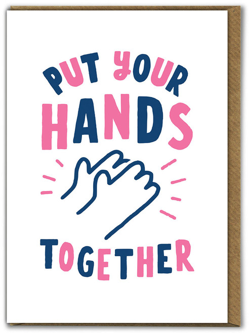Hands Together Birthday Card