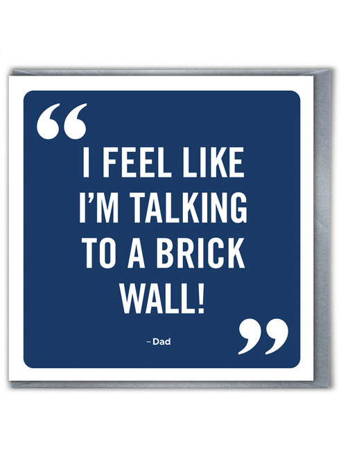 Brick Wall Father's Day Greetings Card