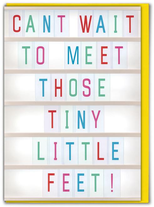 Tiny Little Feet New Baby Card