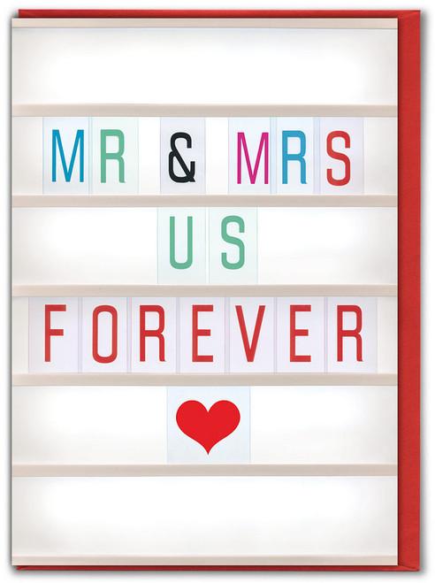 Mr & Mrs Us Anniversary Greetings Card
