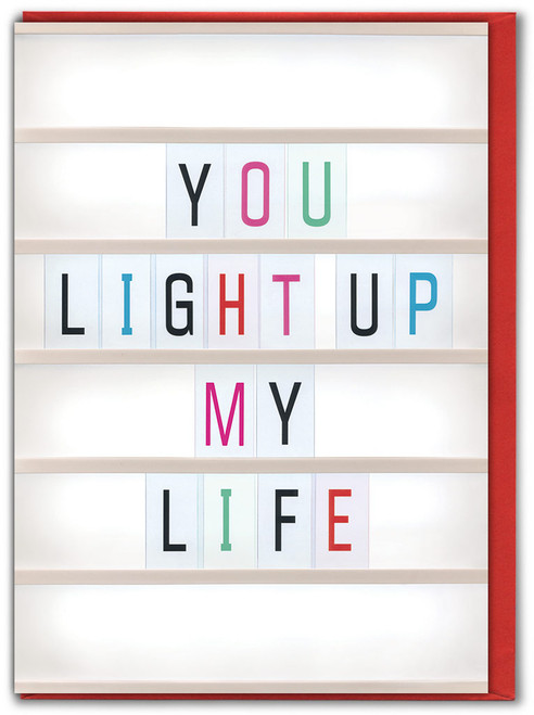 You Light Up My Life Anniversary Card