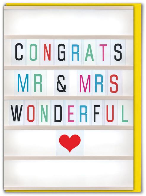 Congrats Mr & Mrs Greetings Card