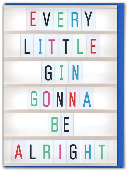 Every Little Gin Birthday Card